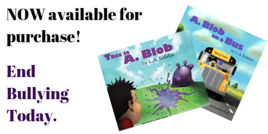 Click to purchase This is A. Blob, by L.A. Kefalos, and A. Blob on a Bus, by L.A. Kefalos