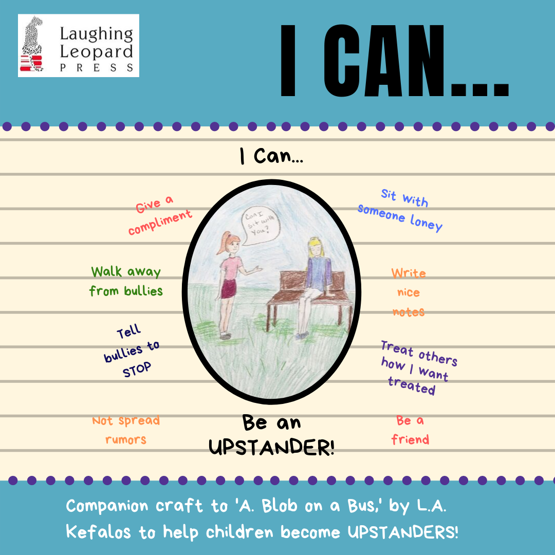 I Can Be an Upstander Book extension activity blog cover and link